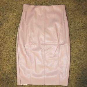 Express woman's high waisted pink skirt